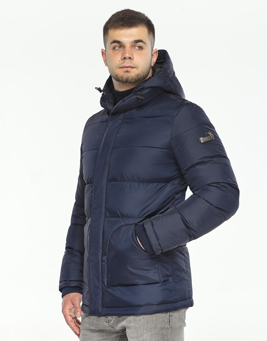 Темно-синяя зимняя куртка комфортная модель 27544 фото 3