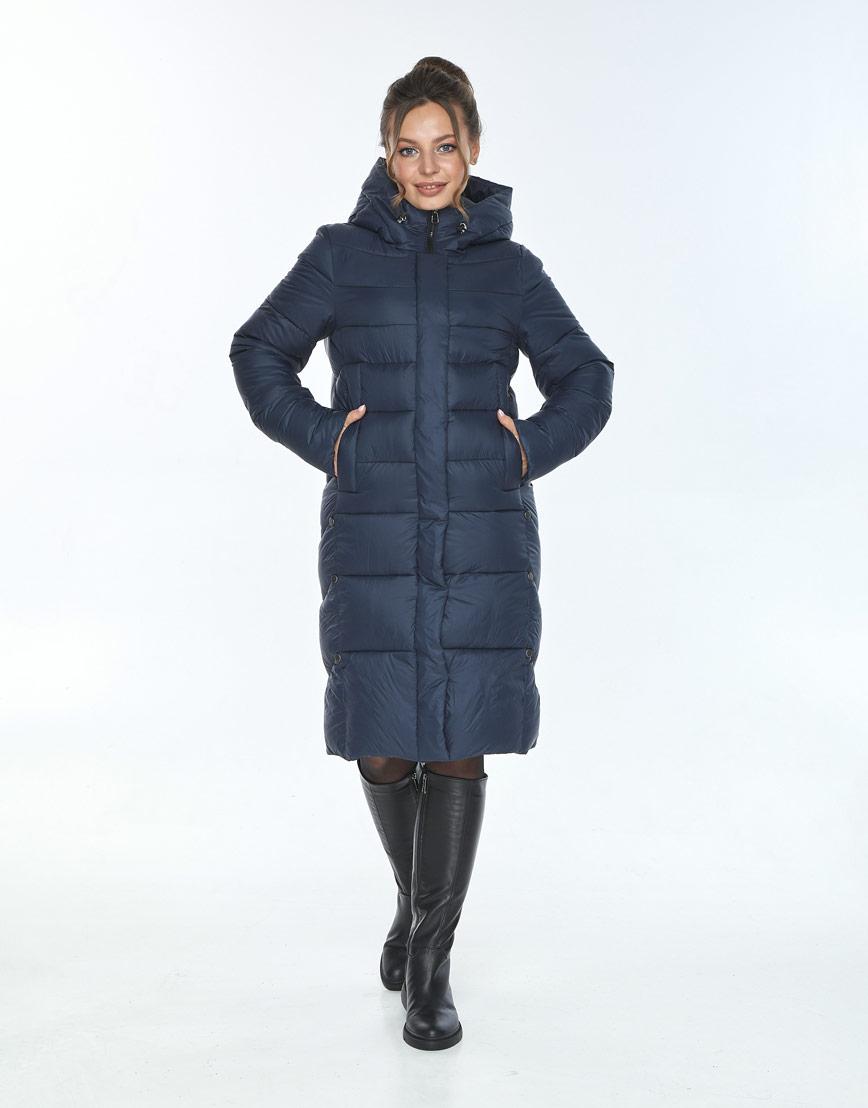 Модная куртка зимняя женская Ajento синего цвета 22975 фото 2