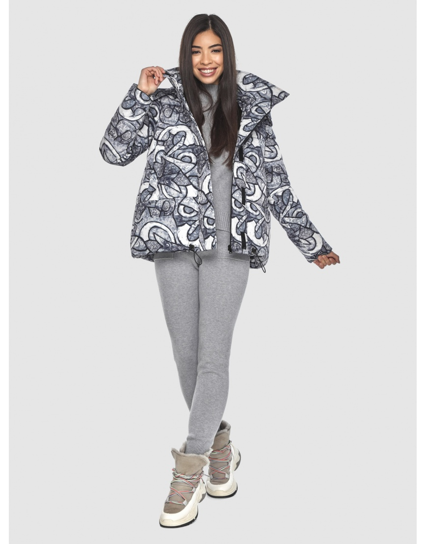 Зимняя люксовая куртка подростковая Moc с рисунком M6981 фото 6