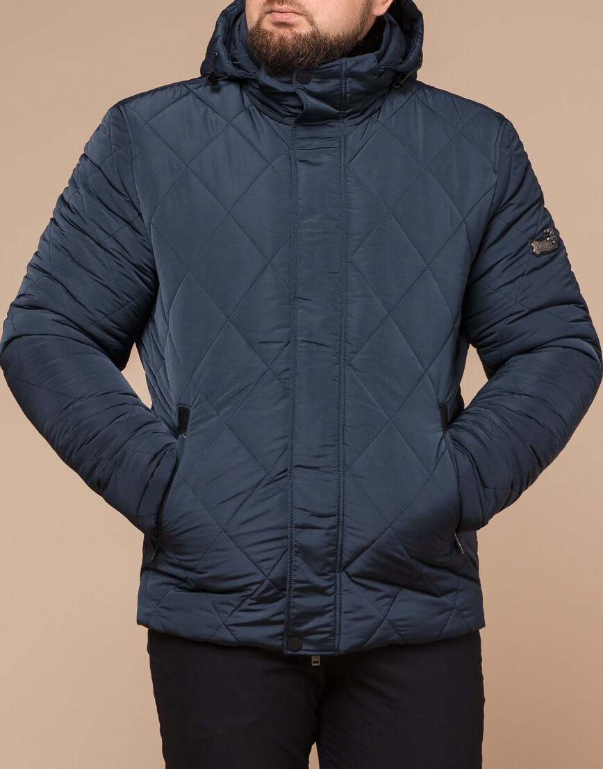 Светло-синяя куртка зимняя мужская модель 19121 оптом фото 2