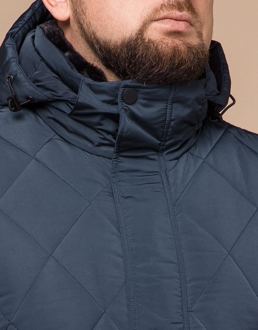 Светло-синяя куртка зимняя мужская модель 19121 оптом фото 4