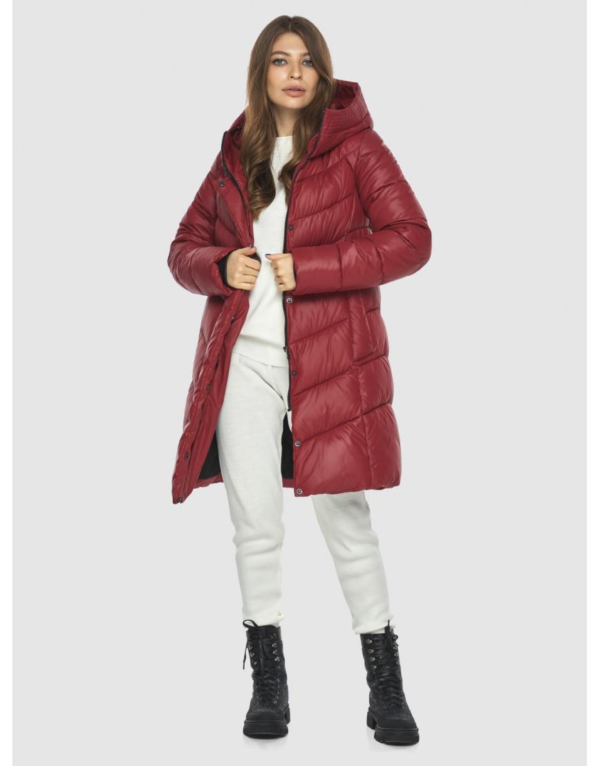 Куртка Ajento красная трендовая женская 22857 фото 6