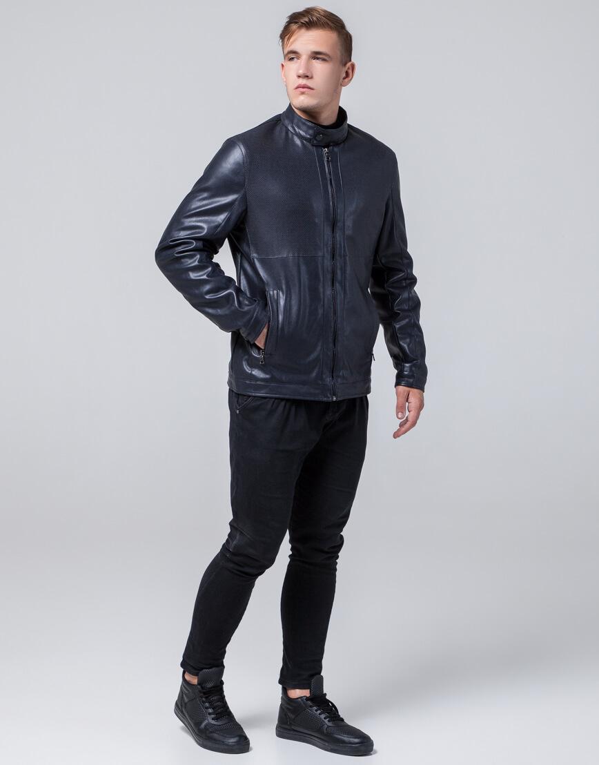 Темно-синяя куртка осенне-весенняя брендовая модель 2193 фото 1