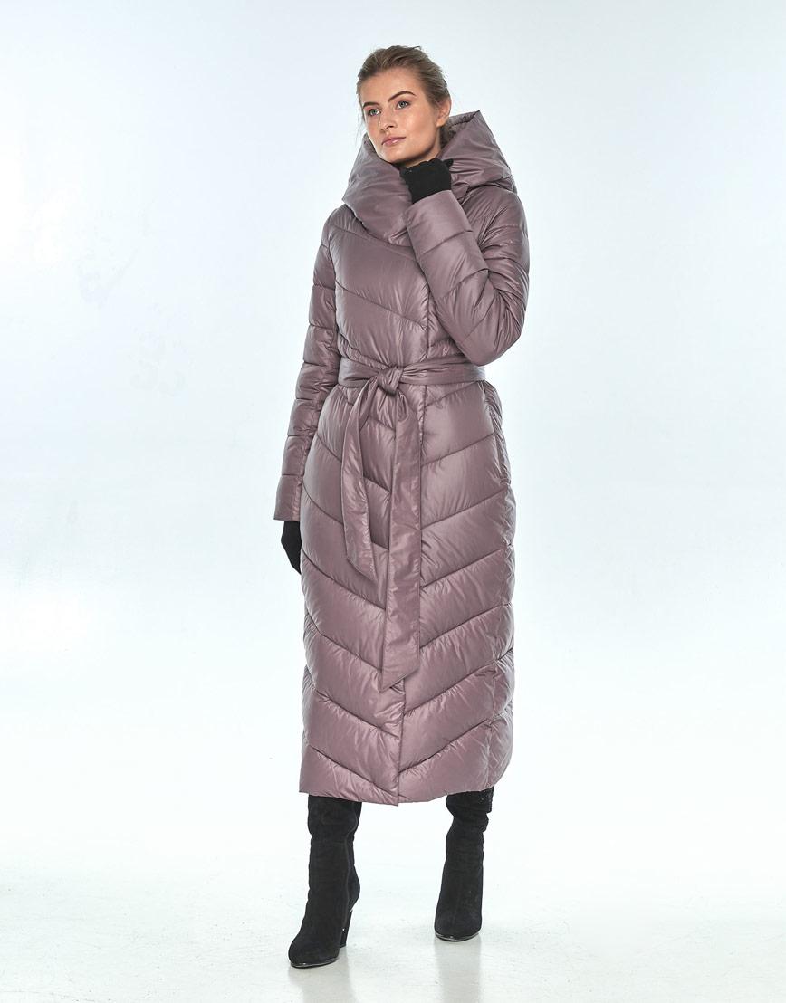 Пудровая куртка Ajento женская с карманами зимняя 23046 фото 1
