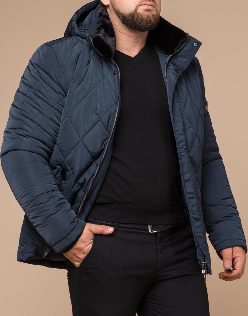Светло-синяя куртка зимняя мужская модель 19121 оптом фото 1