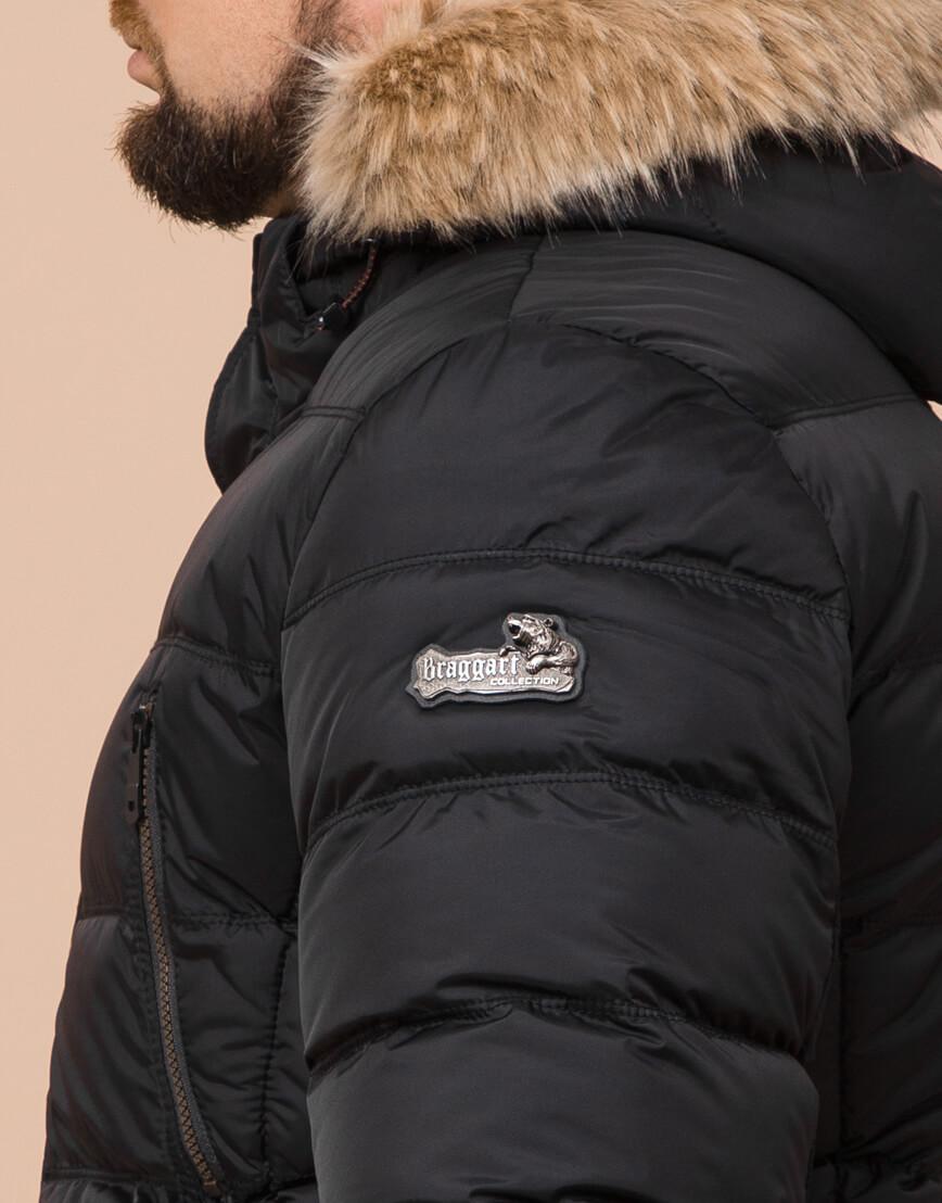 Комфортная черная куртка большого размера модель 23752 фото 6