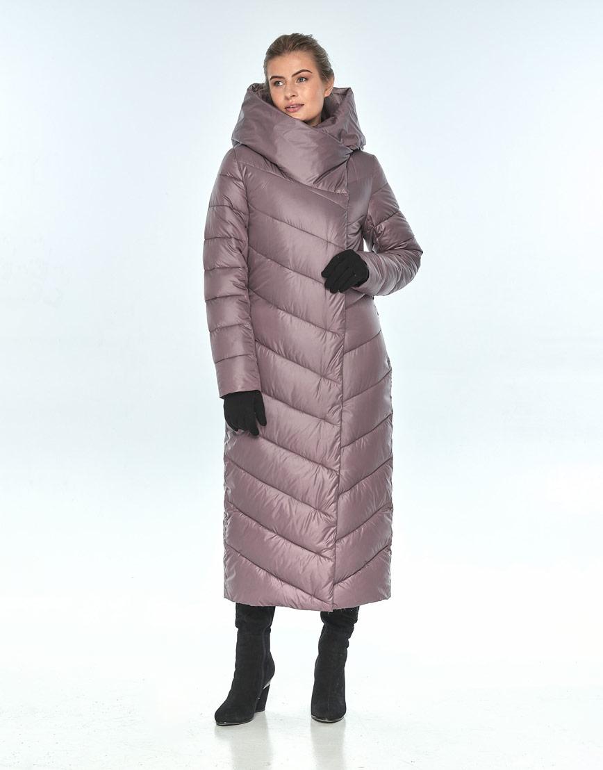 Пудровая куртка Ajento женская с карманами зимняя 23046 фото 2
