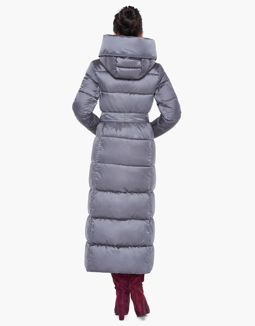 Женский жемчужно-серый брендовый воздуховик Braggart зимний модель 31056 фото 5