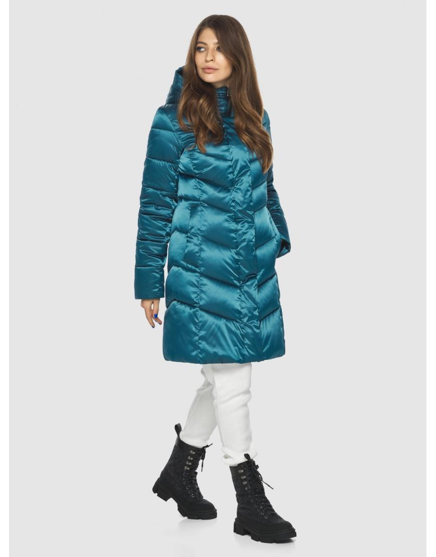 Оригинальная аквамариновая куртка Ajento женская 22857 фото 6