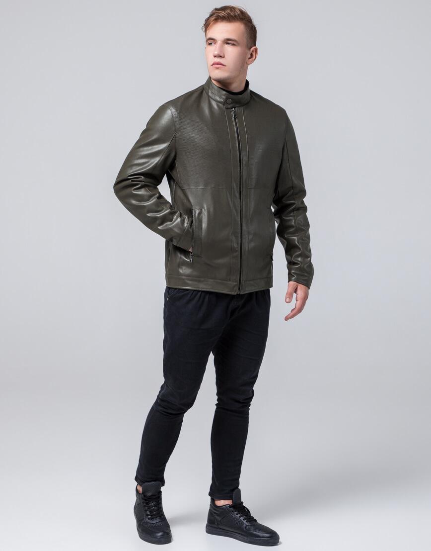 Куртка мужская легкая осенне-весенняя цвета хаки модель 2193 фото 2