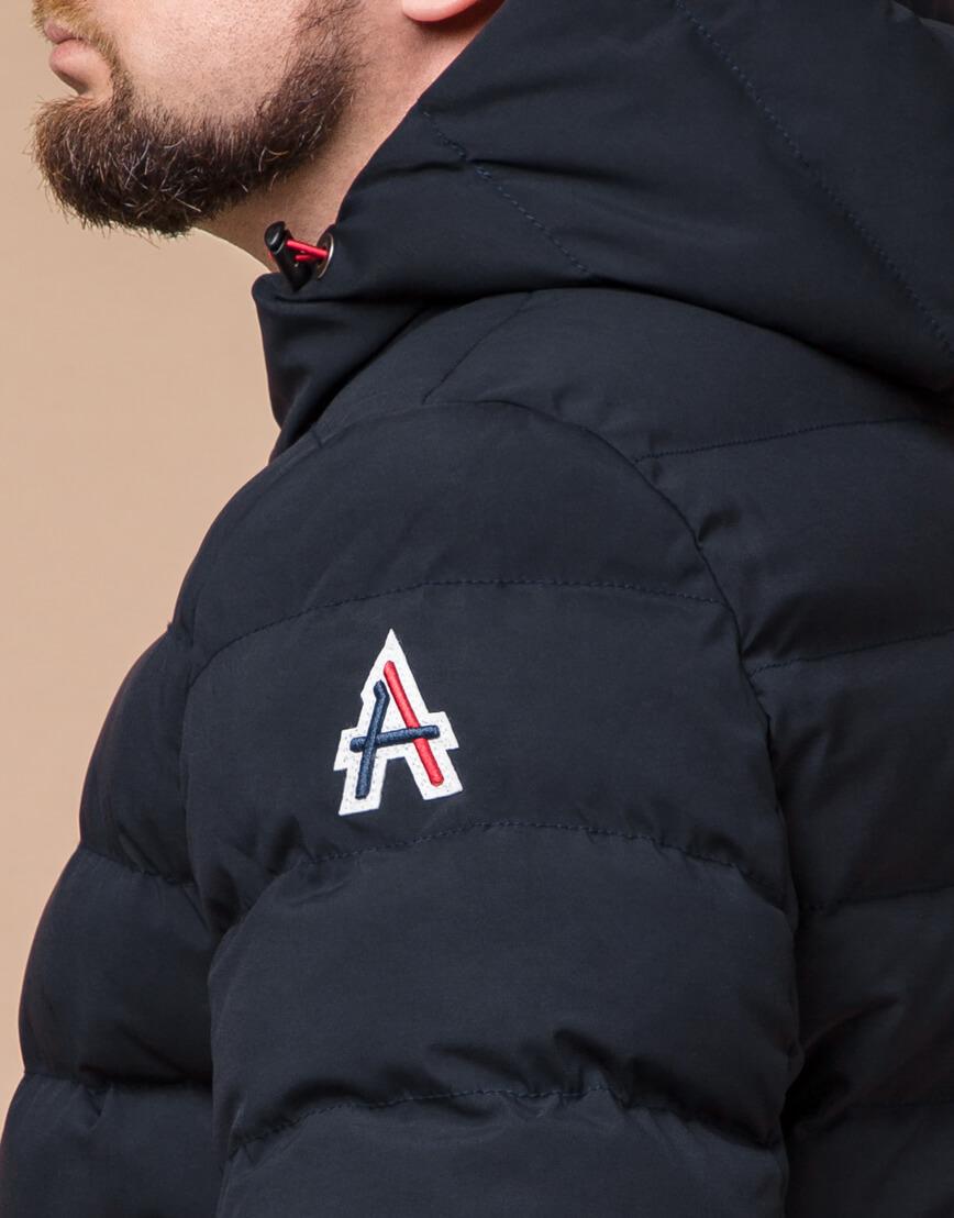 Качественная куртка цвет темно-синий-красный модель 45115 фото 6