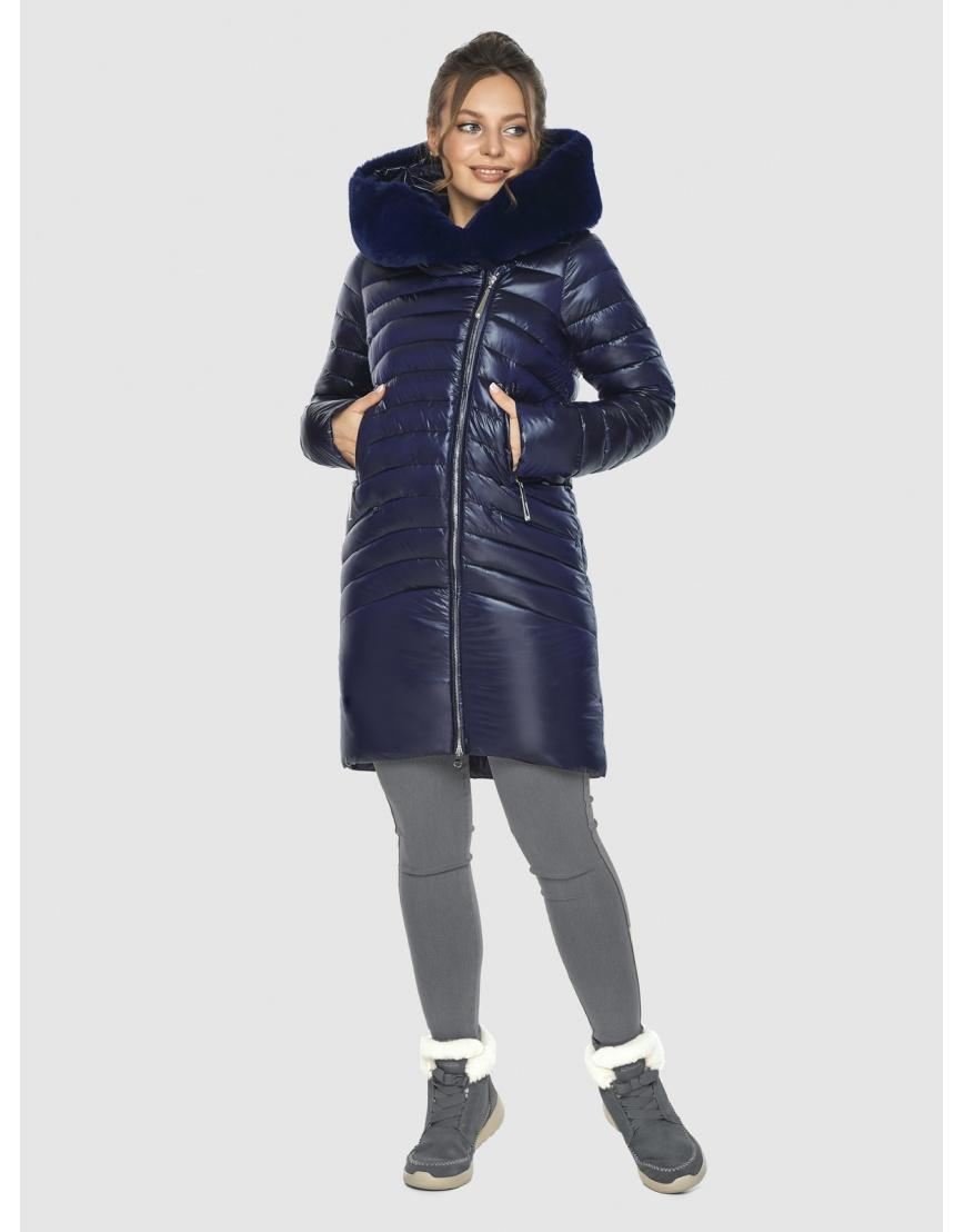 Брендовая подростковая куртка Ajento синяя зимняя 24138 фото 1