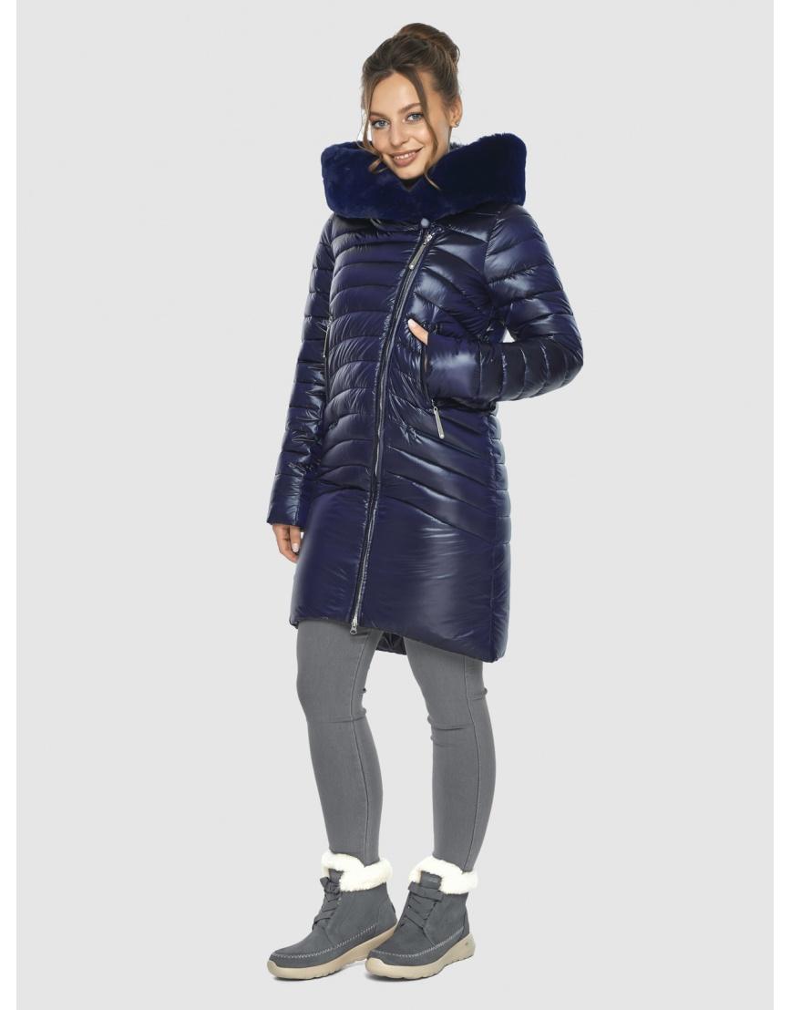 Брендовая подростковая куртка Ajento синяя зимняя 24138 фото 2