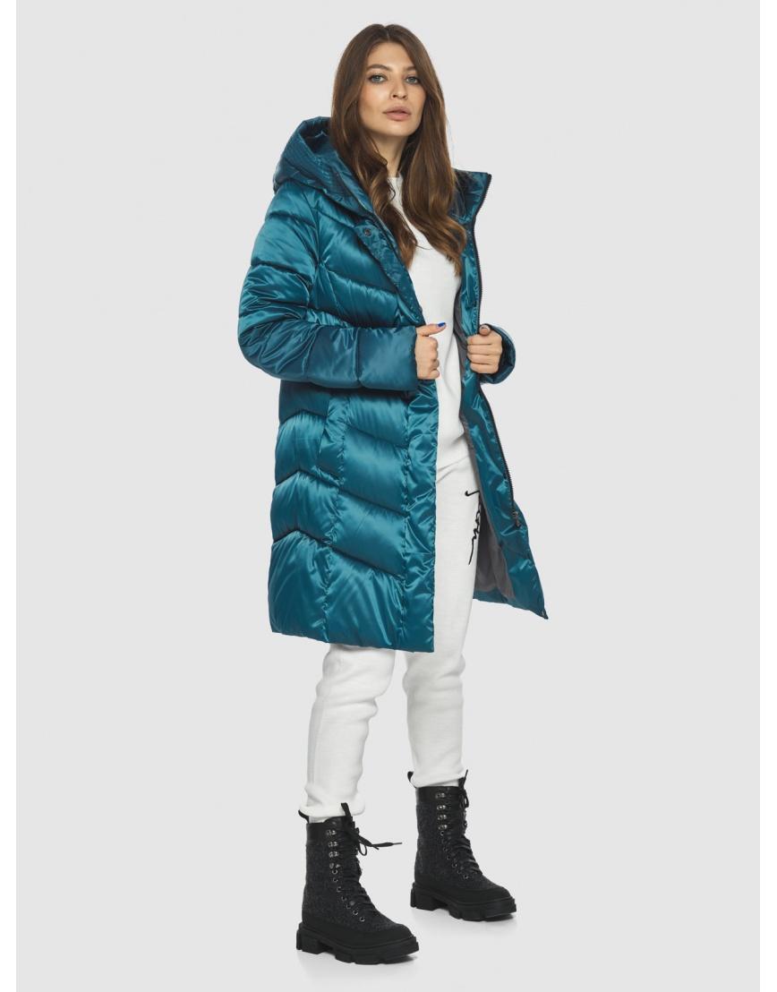 Оригинальная аквамариновая куртка Ajento женская 22857 фото 2