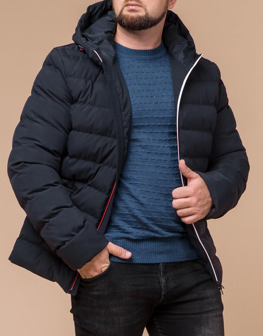 Качественная куртка цвет темно-синий-красный модель 45115 фото 2