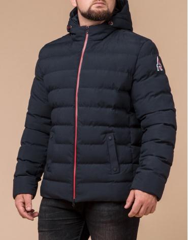 Качественная куртка цвет темно-синий-красный модель 45115