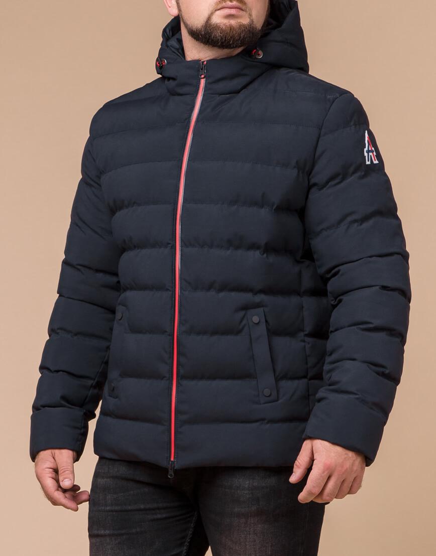 Качественная куртка цвет темно-синий-красный модель 45115 фото 1