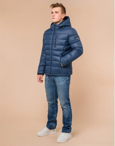 Модная мужская синяя куртка модель 36450