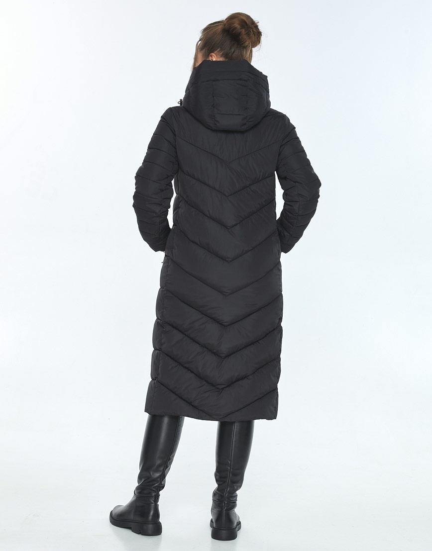 Женская куртка Ajento длинная чёрная 21152 фото 3