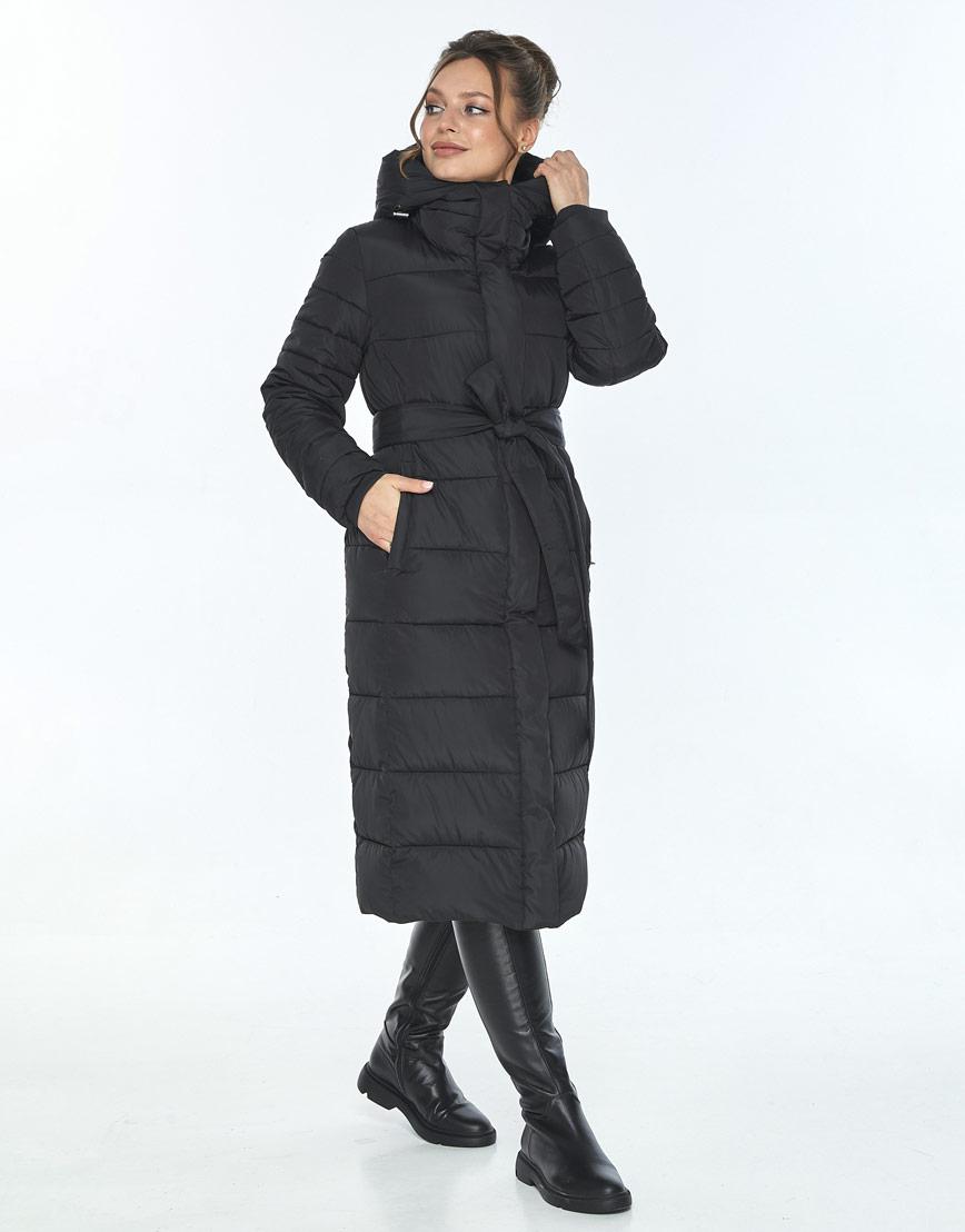 Женская куртка Ajento длинная чёрная 21152 фото 2