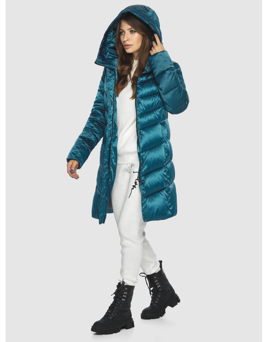 Оригинальная аквамариновая куртка Ajento женская 22857 фото 5