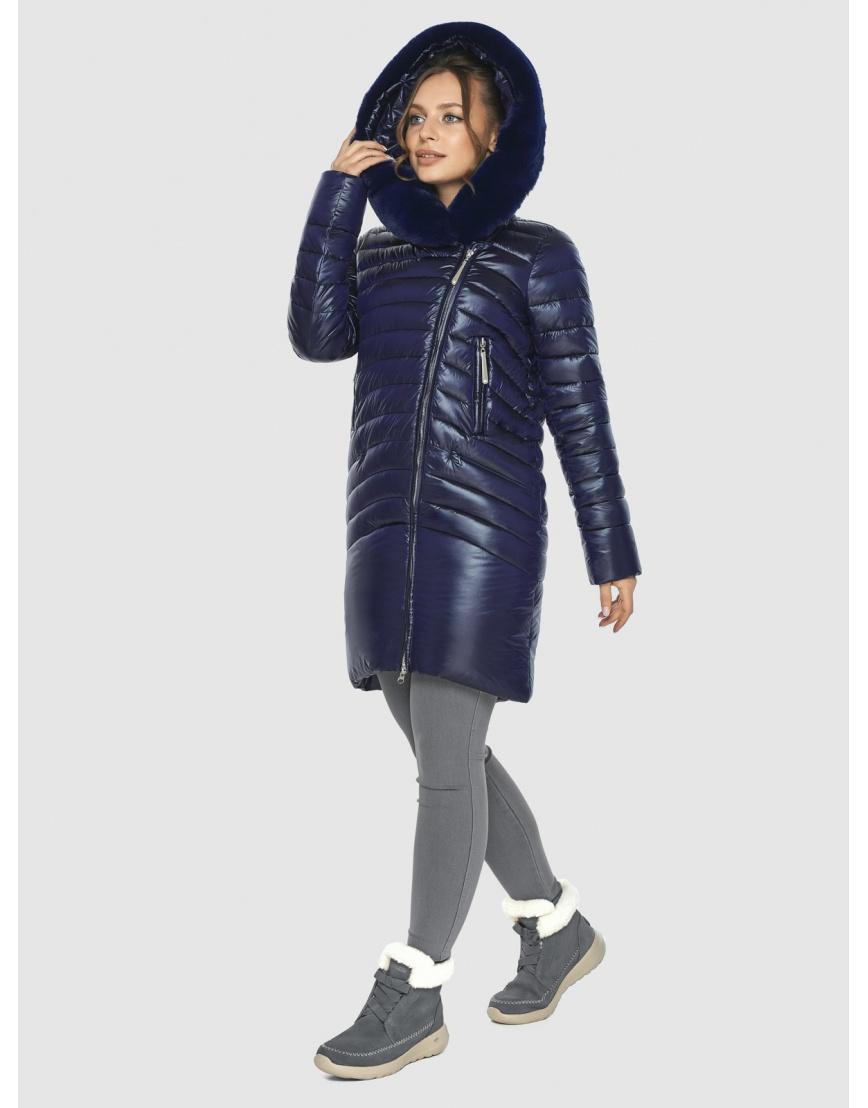 Брендовая подростковая куртка Ajento синяя зимняя 24138 фото 3