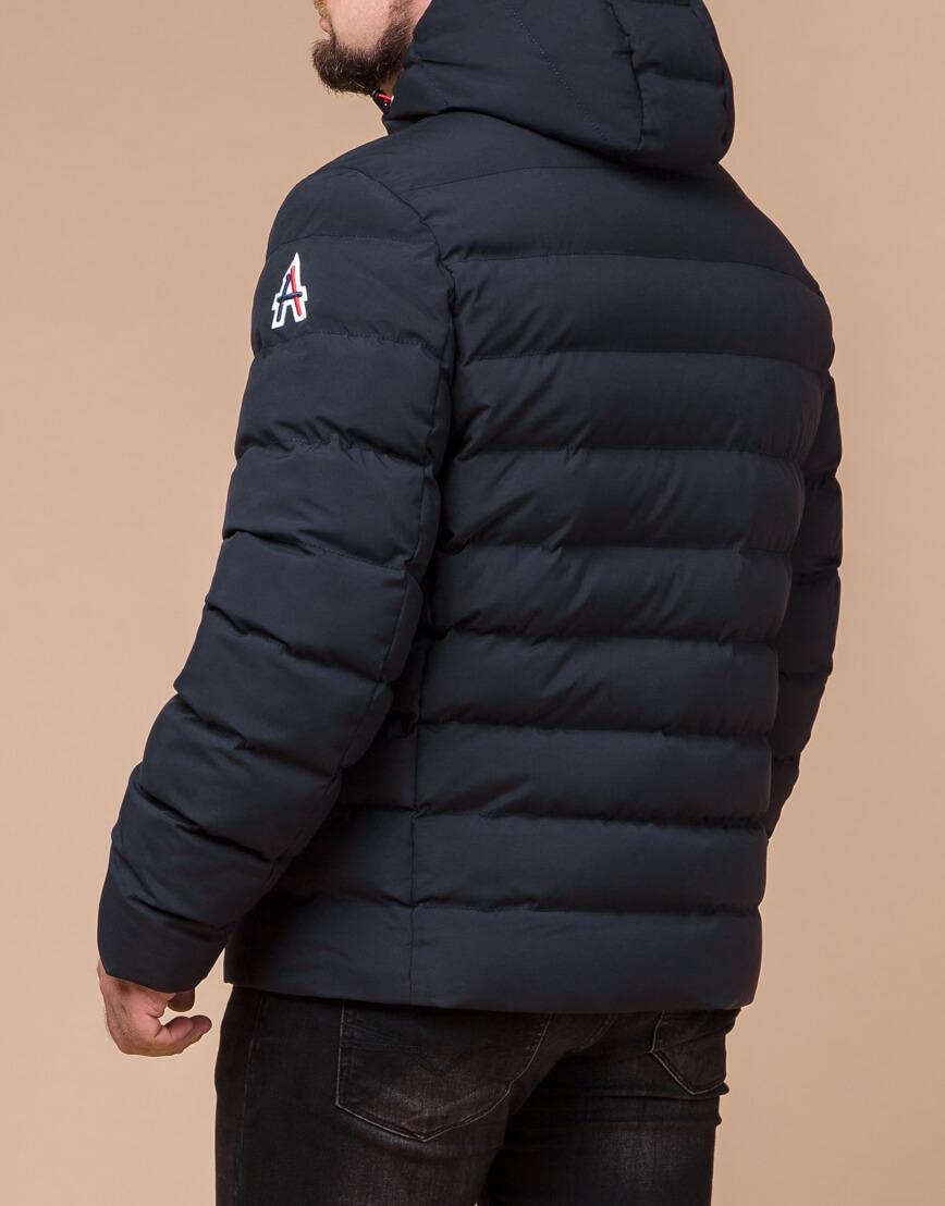 Качественная куртка цвет темно-синий-красный модель 45115 фото 3