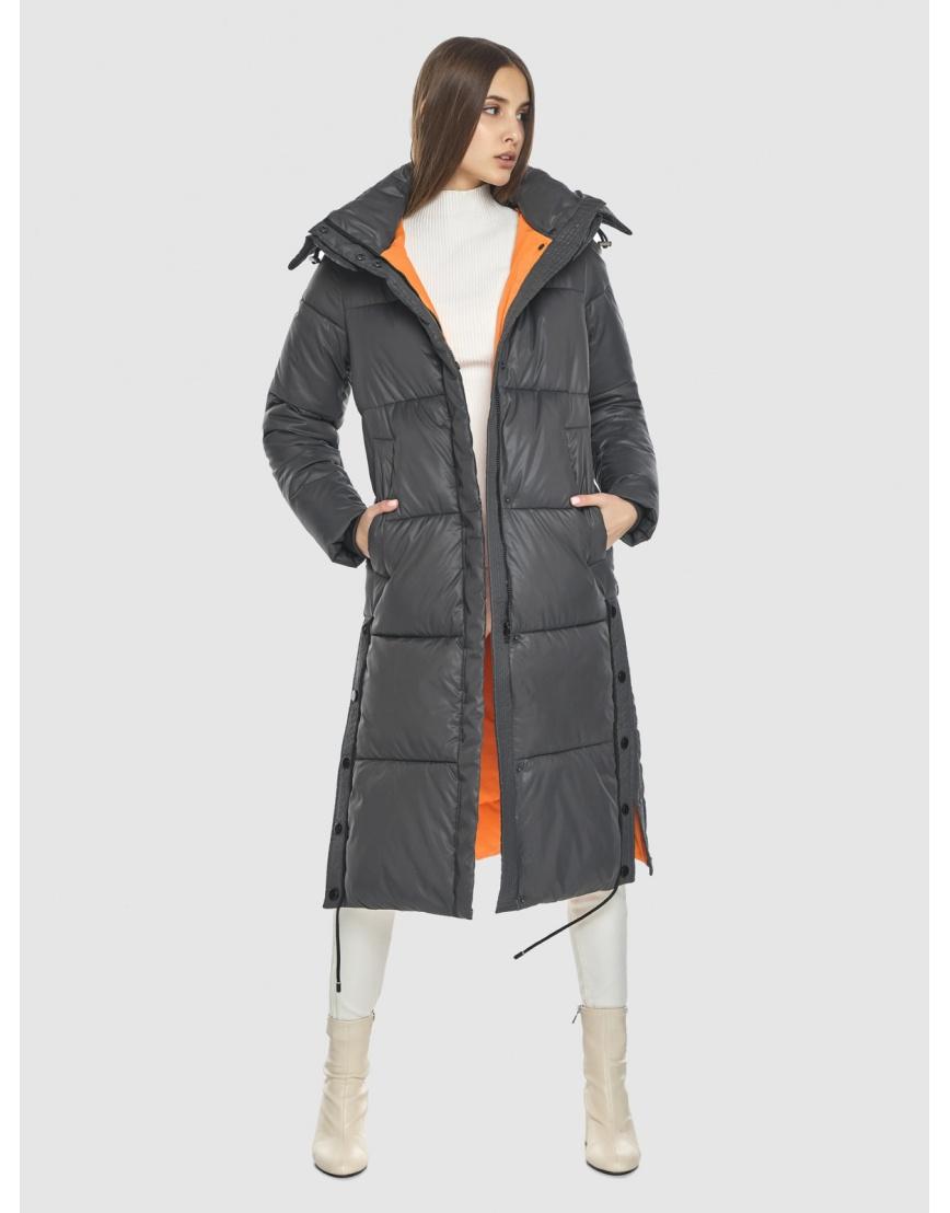 Серая куртка Vivacana женская стильная 7654/21 фото 2