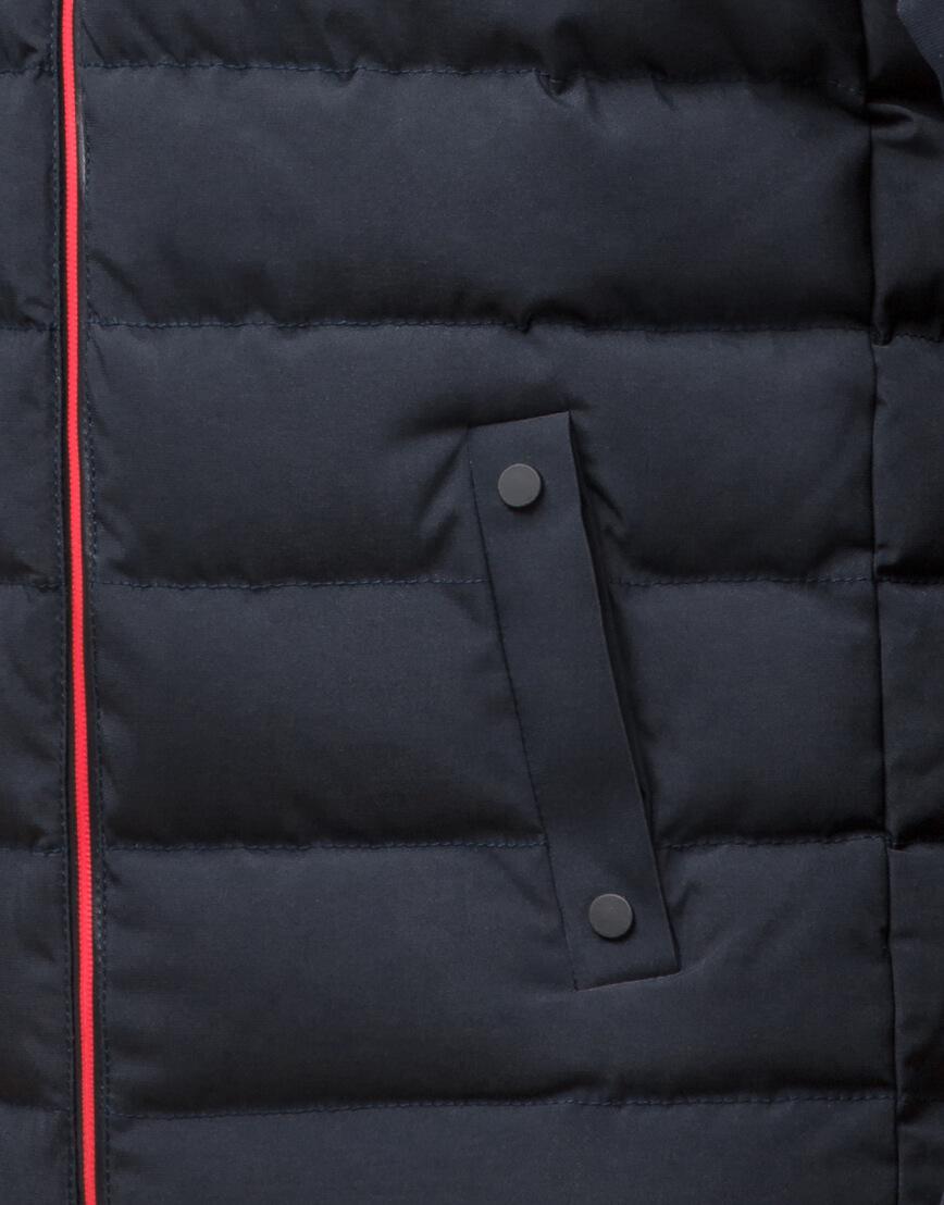 Качественная куртка цвет темно-синий-красный модель 45115 фото 5