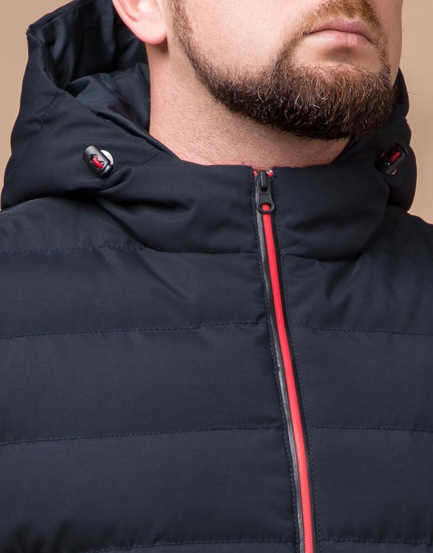 Качественная куртка цвет темно-синий-красный модель 45115 фото 4