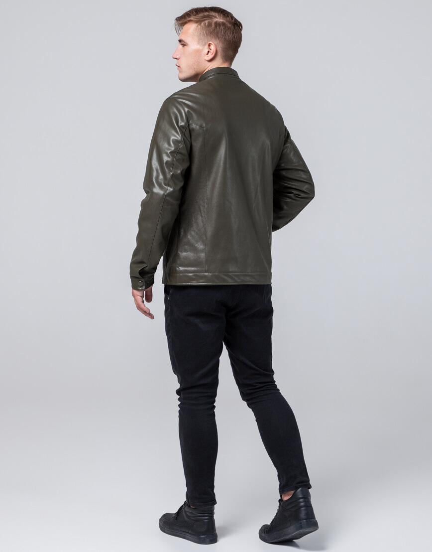 Куртка мужская легкая осенне-весенняя цвета хаки модель 2193 фото 4