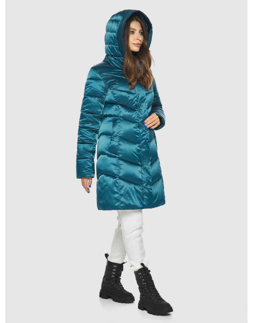 Оригинальная аквамариновая куртка Ajento женская 22857 фото 1