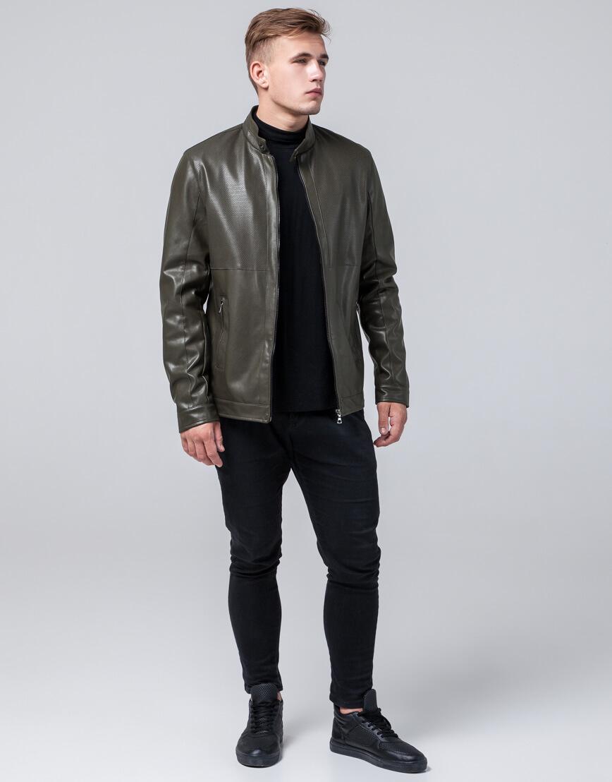 Куртка мужская легкая осенне-весенняя цвета хаки модель 2193 фото 1