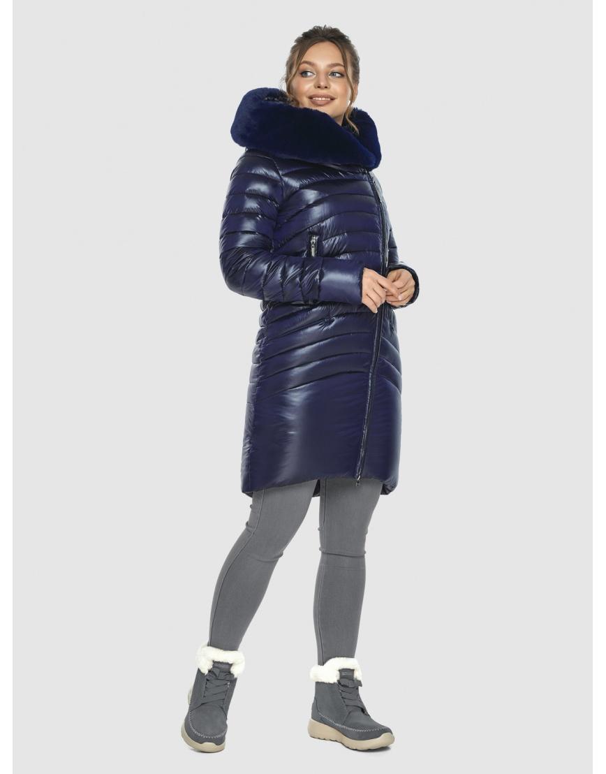 Брендовая подростковая куртка Ajento синяя зимняя 24138 фото 5