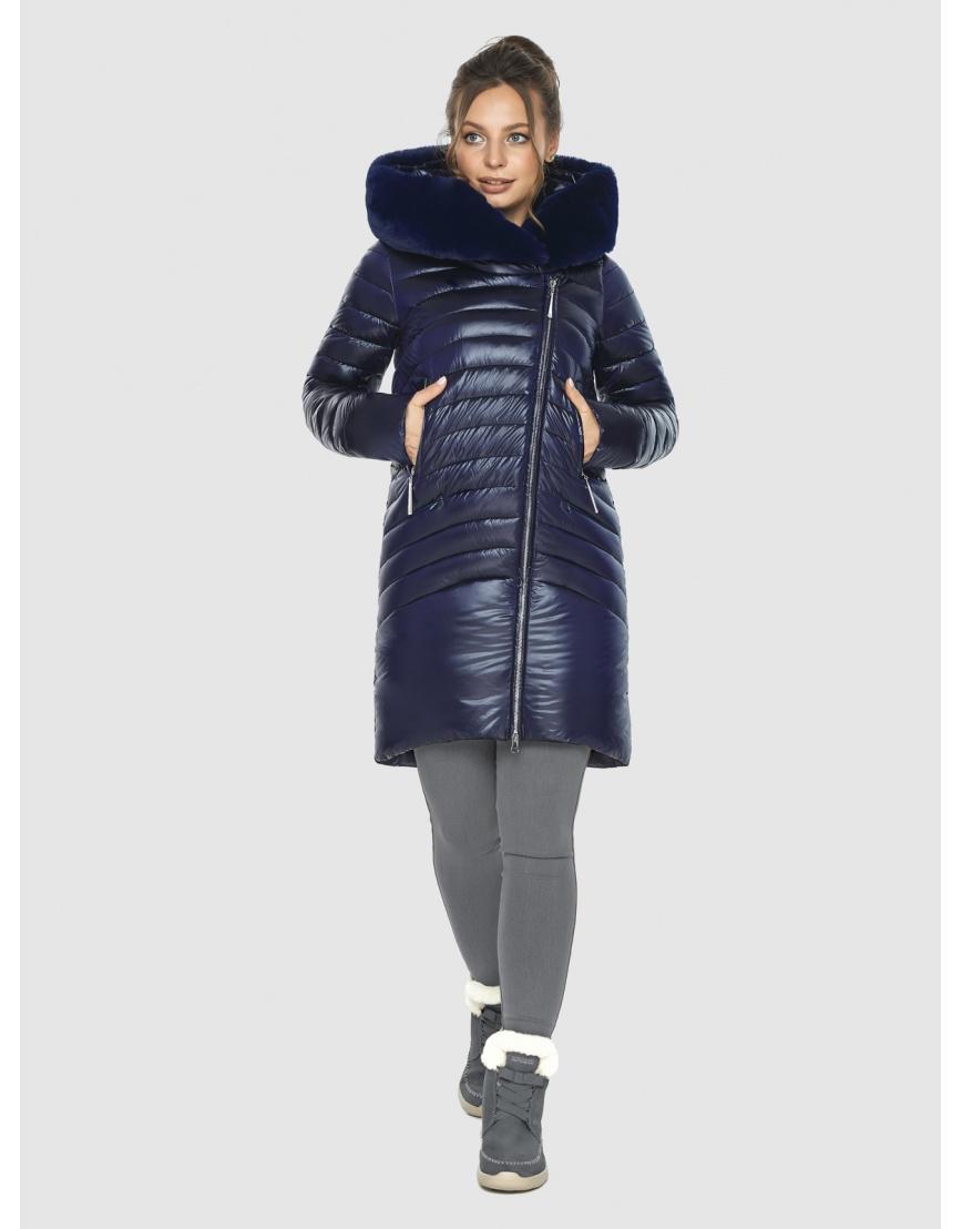 Брендовая подростковая куртка Ajento синяя зимняя 24138 фото 6