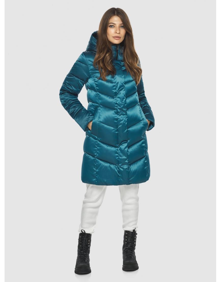 Оригинальная аквамариновая куртка Ajento женская 22857 фото 3