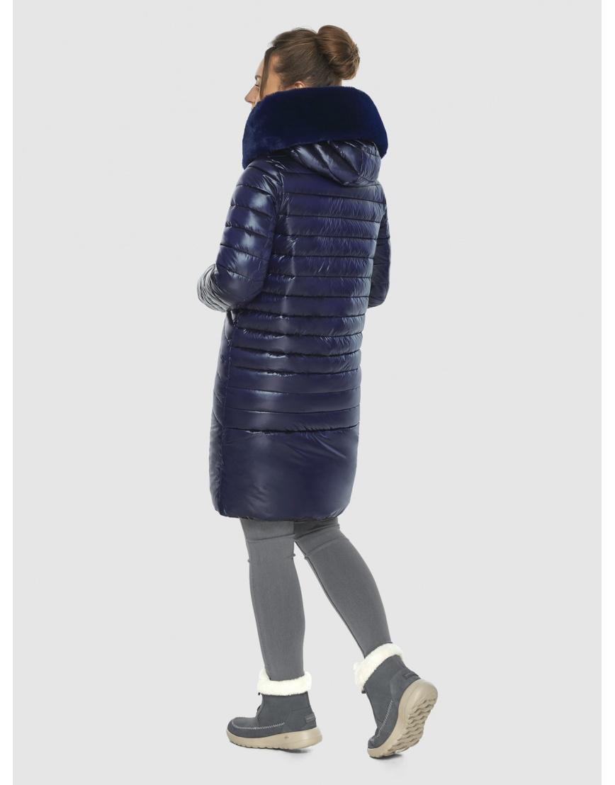 Брендовая подростковая куртка Ajento синяя зимняя 24138 фото 4