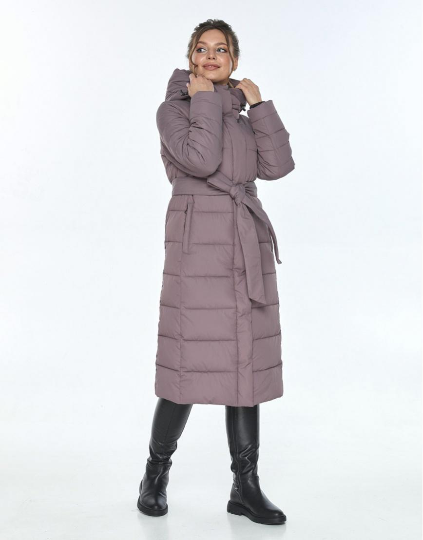 Куртка с поясом женская Ajento цвет пудра 21152 фото 1