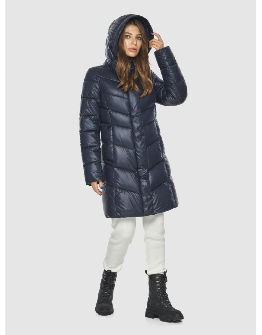 Удобная куртка синяя женская Ajento 22857 фото 5