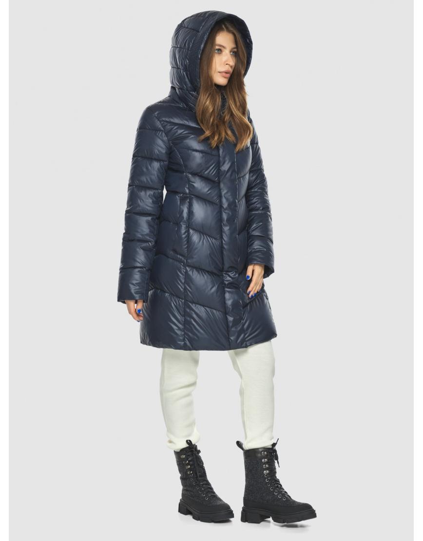Удобная куртка синяя женская Ajento 22857 фото 3