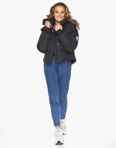 Пуховик куртка Youth молодежная удобная цвет черный модель 27450 фото 1