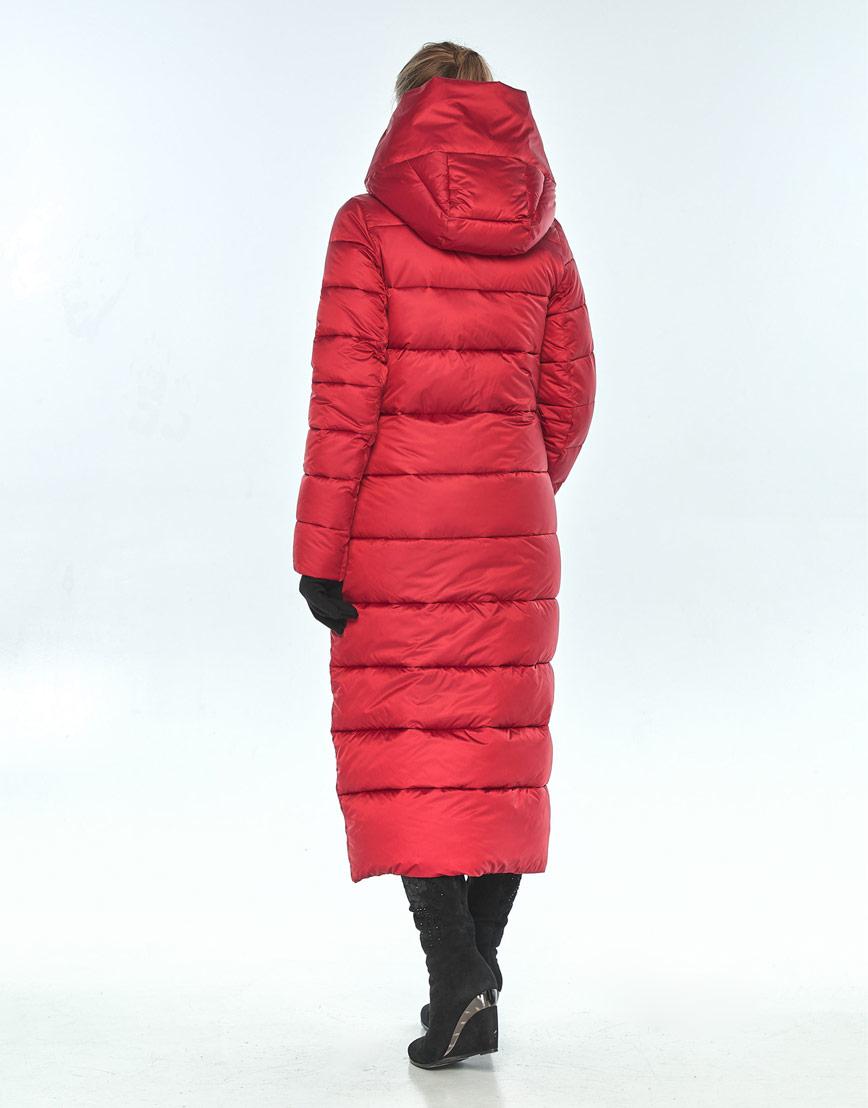 Красная женская куртка Ajento длинная зимняя 23046 фото 3
