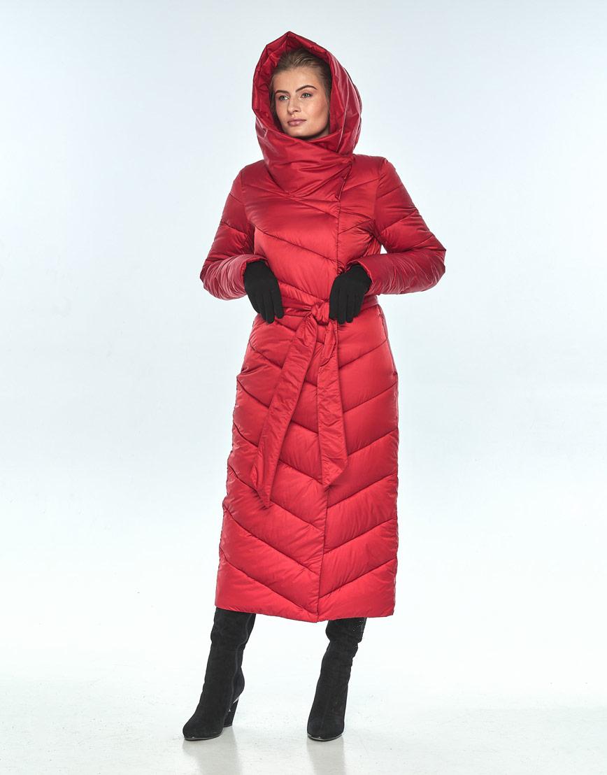Красная женская куртка Ajento длинная зимняя 23046 фото 1