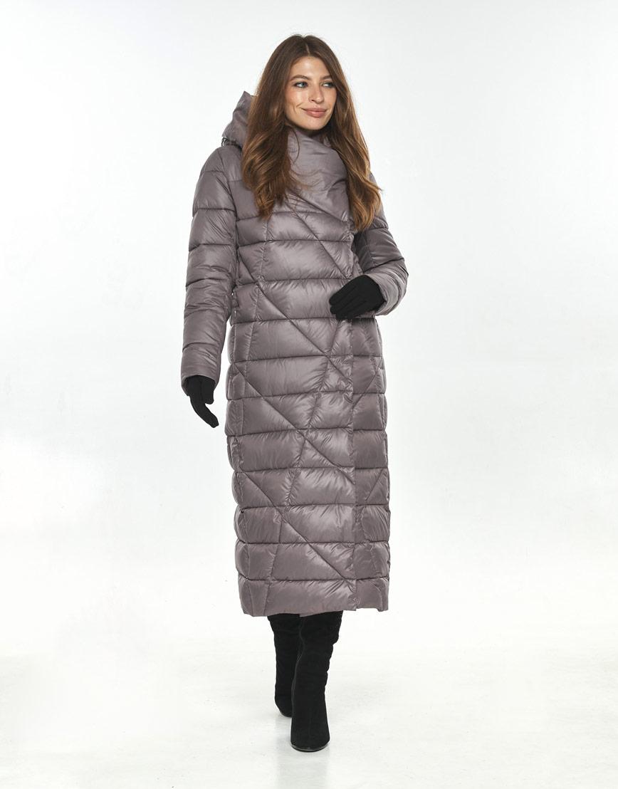 Пудровая модная длинная куртка женская Ajento 23795 фото 1