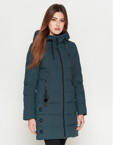 Зимняя женская бирюзовая куртка модель 25125
