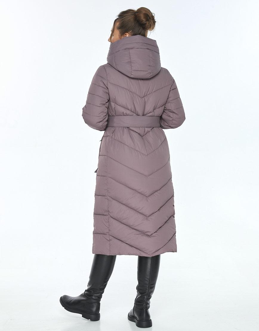 Куртка с поясом женская Ajento цвет пудра 21152 фото 3