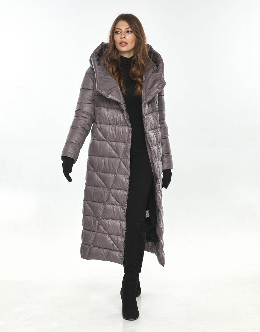Пудровая модная длинная куртка женская Ajento 23795 фото 2
