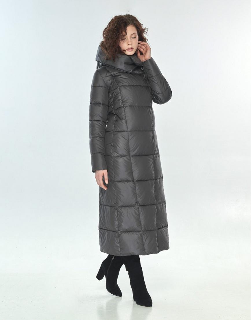 Оригинальная куртка большого размера Moc женская серая M6321 фото 2