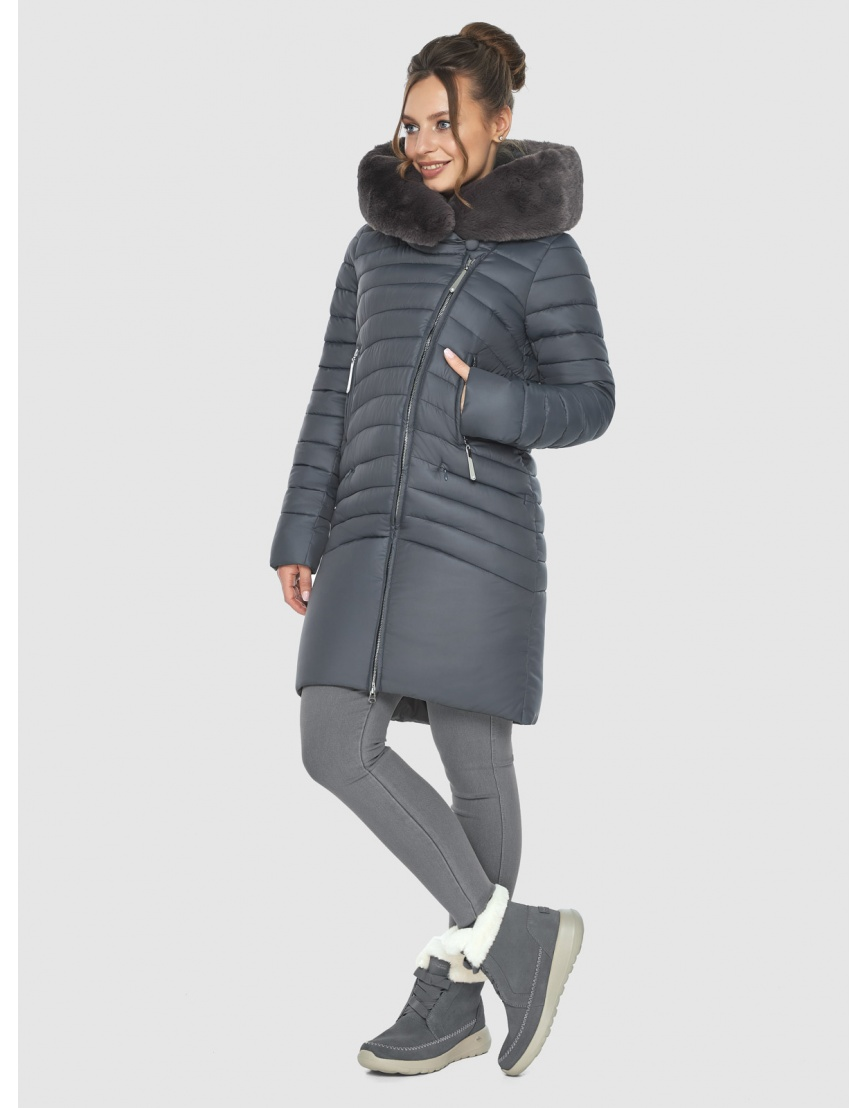 Серая подростковая зимняя куртка Ajento 24138 фото 3