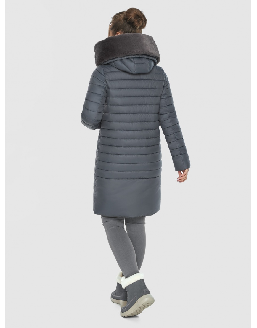 Серая подростковая зимняя куртка Ajento 24138 фото 4